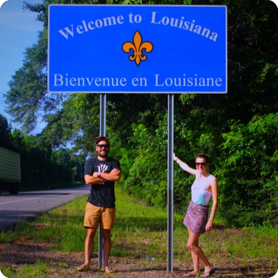 Louisiana State Sign