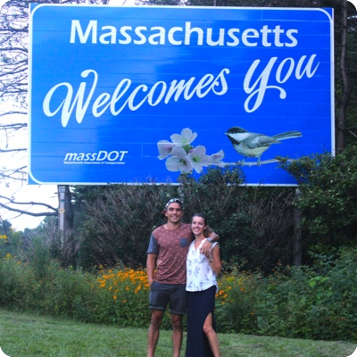 Massachusetts State Welcome Sign