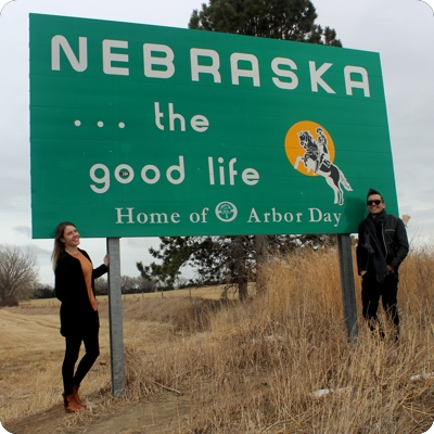 Nebraska State Welcome Sign