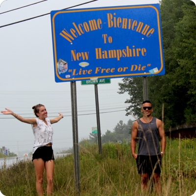 New Hampshire State Welcome Sign