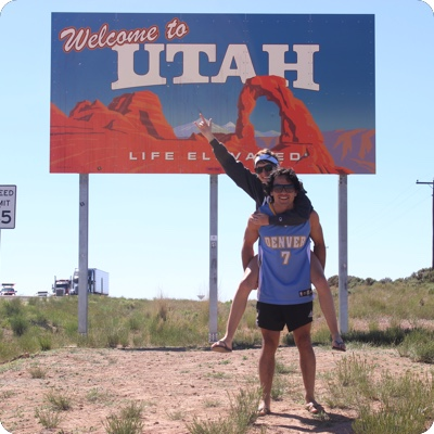 Utah State Welcome Sign